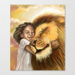 Lion's Kiss Canvas Print