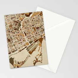 Toronto Street Map Stationery Cards