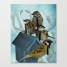 Smoking Birds Print Canvas Print