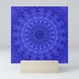 Cosmos Mandala II Cobalt Blue Mini Art Print