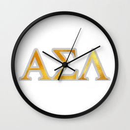 ASL SIGN LANGUAGE - GREEK LETTERS Wall Clock