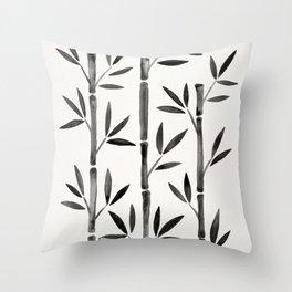 Black Bamboo Throw Pillow