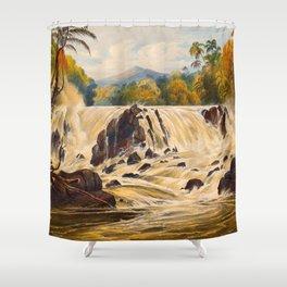Purumama The River Parima Illustrations Of Guyana South America Natural Scenes Hand Drawn Shower Curtain