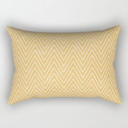 Mustard Chevron Rectangular Pillow