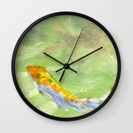 Small Koi Pond 6 Wall Clock