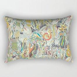 hairspray jungle Rectangular Pillow