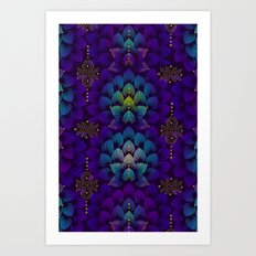 Variations on A Feather IV - Stars Aligned Art Print