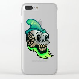 Golden Sun Skull Clear iPhone Case