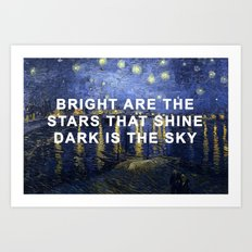 Starry Night Over the Rhone And I Her Art Print