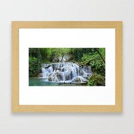 Forest waterfalls Framed Art Print