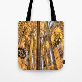Barcelona Cathedral Architecture Tote Bag