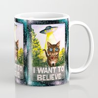 i want to believe Mugs featuring I Want To Believe by Ariana Victoria Rose