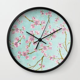 Spring Flowers - Cherry Blossom Pattern Wall Clock