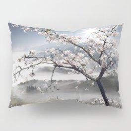 Japanese Cherry Landscape Pillow Sham