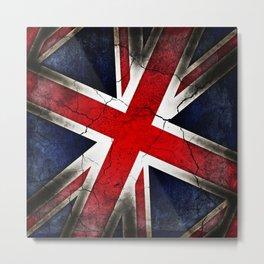 Punk Grunge Union Jack British Flag Metal Print