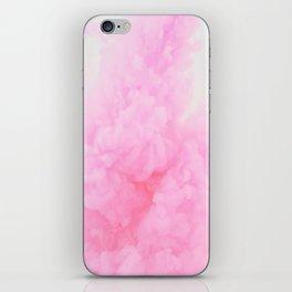 Pink Neon Smoke Clouds iPhone Skin