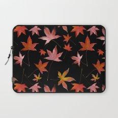 Dead Leaves over Black Laptop Sleeve