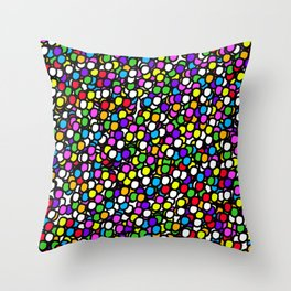 Bubble GUM Colorful Balls Throw Pillow