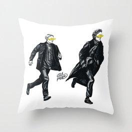 Swift Run (Sherlock and John) Throw Pillow