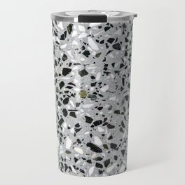 Concrete terrazzo marble texture speckle pattern gray Travel Mug