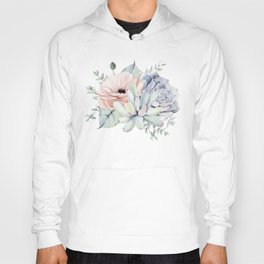Pretty Succulents by Nature Magick Hoody