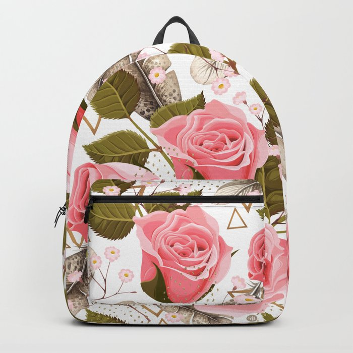 flowers with feathers Backpack