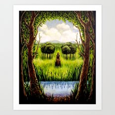 Beckoning From The Other Side Art Print