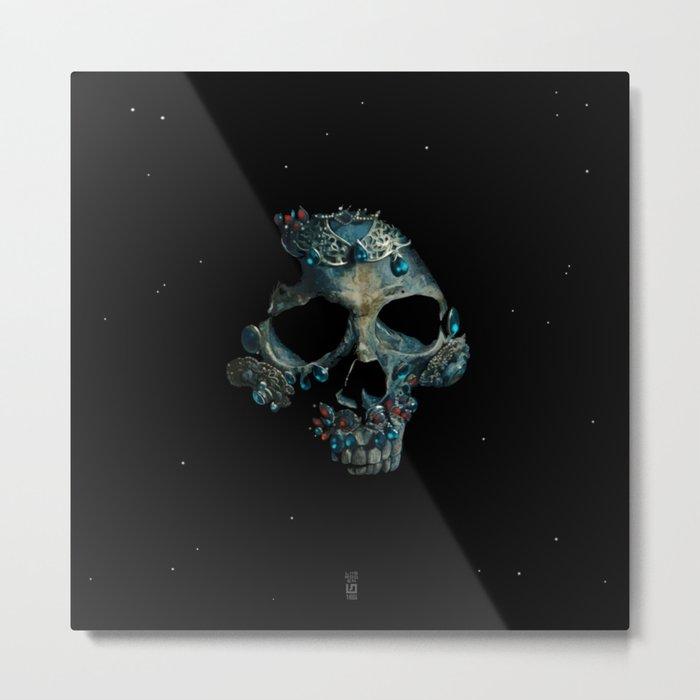 Holy Starman Skull Metal Print