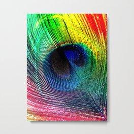 pluma de pavo real ( peacock feather ) Metal Print