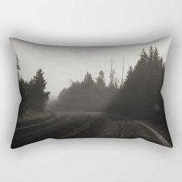 Empty Road Rectangular Pillow