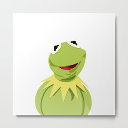 Kermit - The Optimistic Frog Metal Print