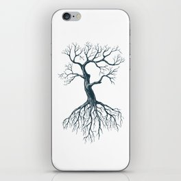 Tree without leaves iPhone Skin