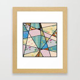 Mixed Pattern Perfect Square Framed Art Print