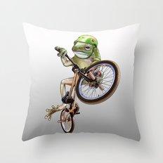 FROG BMX Throw Pillow