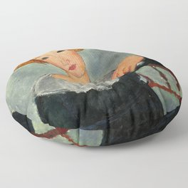 """Amedeo Modigliani """"Woman with Red Hair"""" (1917) Floor Pillow"""