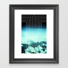 Straight to Blue Framed Art Print