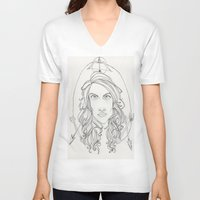 allison argent V-neck T-shirts featuring Allison by Wolfhearted