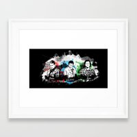 superwholock Framed Art Prints featuring Supernatural - Darkness & Deliverance by Samantha Michelle Wallace