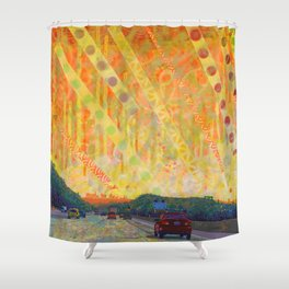 The Early Years Orange Shower Curtain