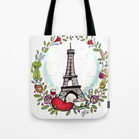cooking Tote Bags featuring French Cooking by Grace Anderson
