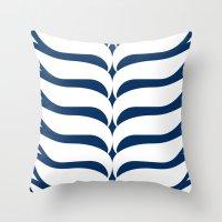kiki Throw Pillows featuring Kiki by November Tigerlilly