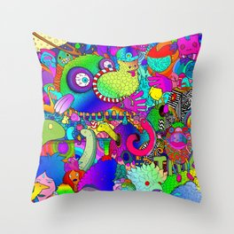 FUNKY CORTISONE Throw Pillow