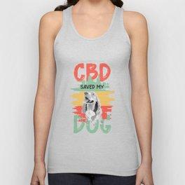CBD dog life saver medicinal plant Unisex Tank Top
