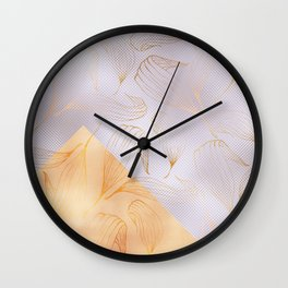 modern rosegold floral pattern Wall Clock