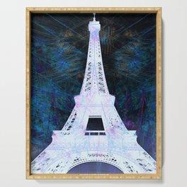Paris Eiffel Tower Night Glow Serving Tray