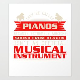 Piano Player Jazz Blues Classical Music Art Print