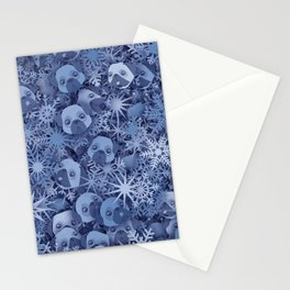 Snow pugs Stationery Cards