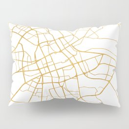 WARSAW POLAND CITY STREET MAP ART Pillow Sham