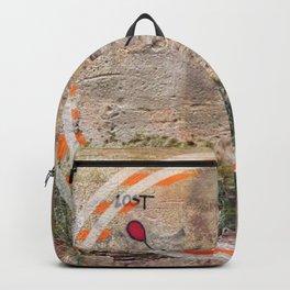 Lost - orange graphic Backpack