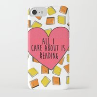 reading iPhone & iPod Cases featuring reading by Synne Vestvik